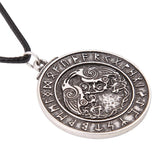 Viking Pendant Necklace Runes Necklace