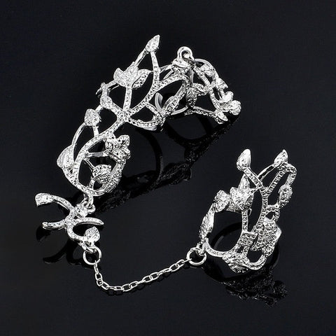 Glam Punk Double Full Finger Knuckle Ring