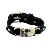 Leather Skull Adjustable  Bracelet