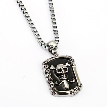 Skull/Pirate Pendant with long chain
