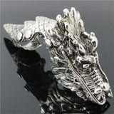 Gothic Antique Silver Colored Full finger Knuckle ring
