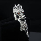 Vintage Style Dragon Knuckle Ring for Men and Women.