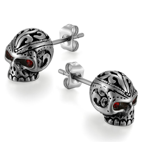 Skull Punk Stud Earrings