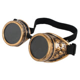 Steampunk Welder Style Sunglasses with Spikes.