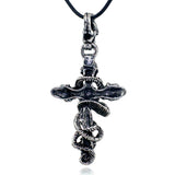 Gothic Snake & Skeleton  Pendant Necklace