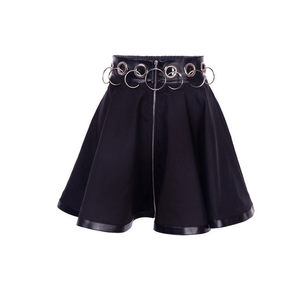 Gothic Skirt with Hollow Iron Rings