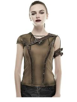 Vintage style Steampunk top (Black or Brown)