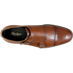 Jetson Cap Toe Monk Strap in Cognac - Rainwater's Men's Clothing and Tuxedo Rental