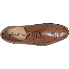 Salerno Wingtip Oxford in Cognac - Rainwater's Men's Clothing and Tuxedo Rental