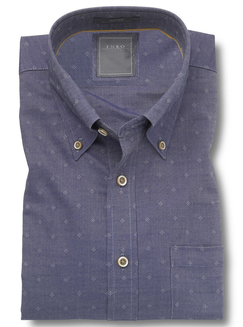 Enro Blue Chambray Neat - Rainwater's Men's Clothing and Tuxedo Rental