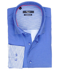 Blue Tonal Fade Sport Shirt - Rainwater's Men's Clothing and Tuxedo Rental