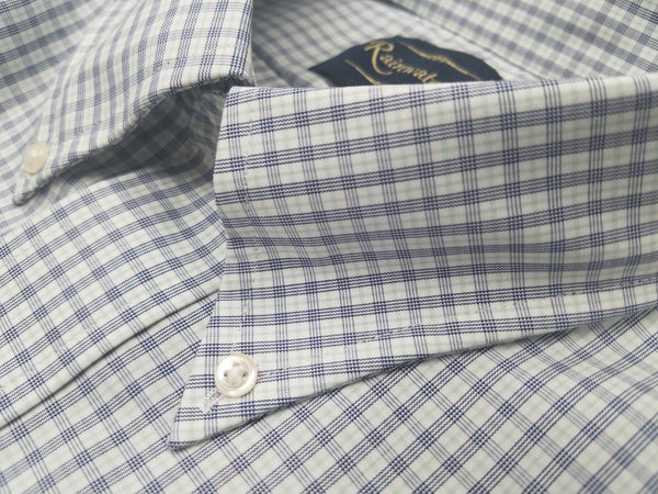 Rainwater's Non-Iron 100% Cotton Blue and Green Pinpoint Dress Shirt - Rainwater's Men's Clothing and Tuxedo Rental