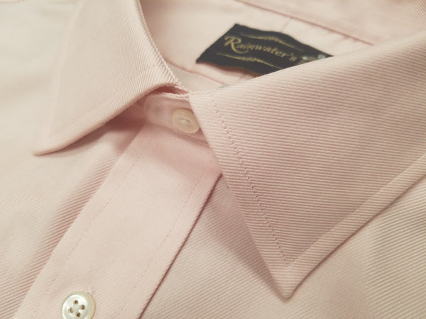 Rainwater's Non-Iron 100% Cotton Twill Dress Shirt in Pink - Rainwater's Men's Clothing and Tuxedo Rental