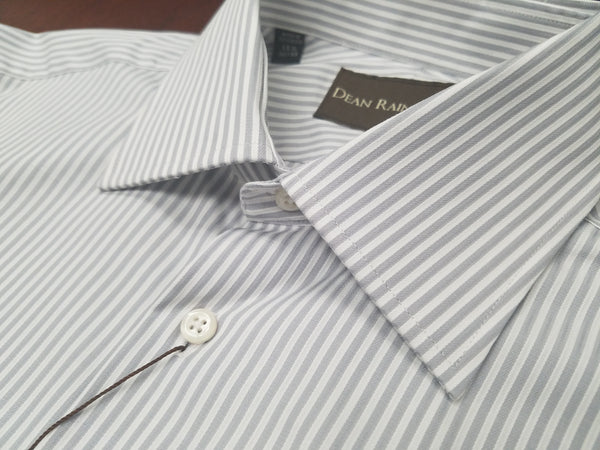 Dean Rainwater 100% Cotton Silver Stripe French Cuff Dress Shirt - Rainwater's Men's Clothing and Tuxedo Rental