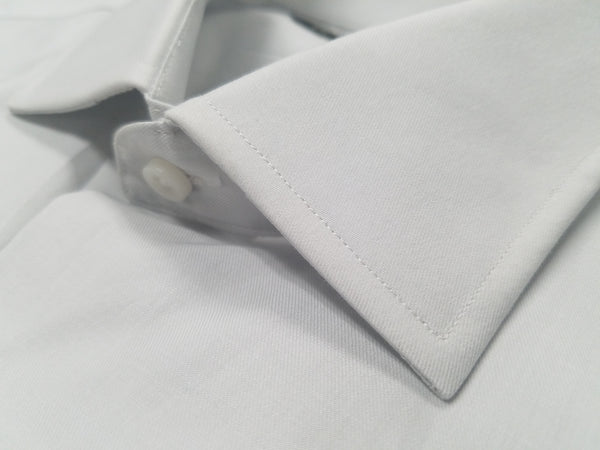 Rainwater's Silver 100% Cotton, Wrinkle Free, Classic Fit, Button Cuff - Dress Shirt - Rainwater's Men's Clothing and Tuxedo Rental