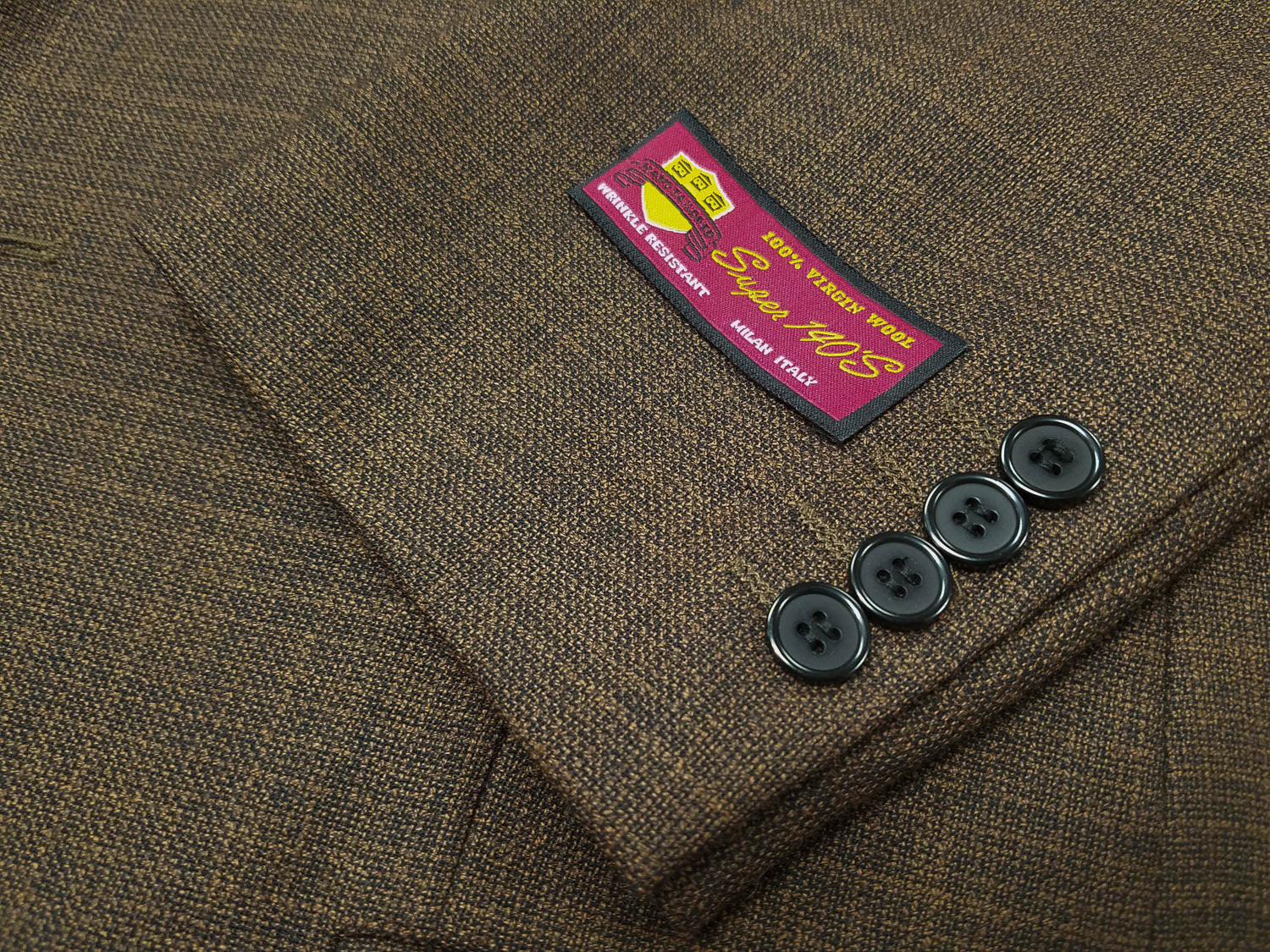 Rainwater's Navy & Rust Basket Weave Super 140's Wool Sport Coat - Rainwater's Men's Clothing and Tuxedo Rental