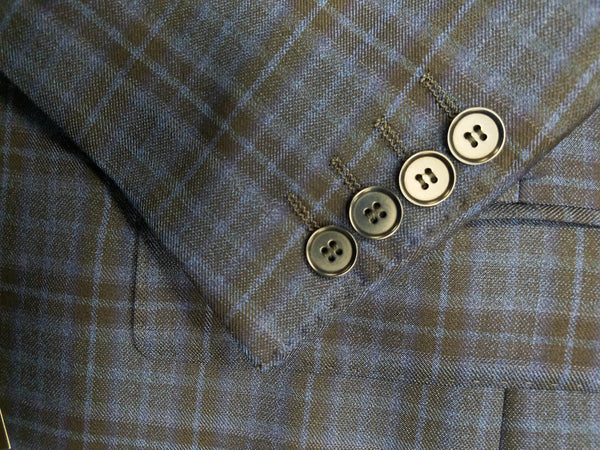 Rainwater's Luxury Collection Navy & Black Plaid Super 150's Wool Sport Coat - Rainwater's Men's Clothing and Tuxedo Rental