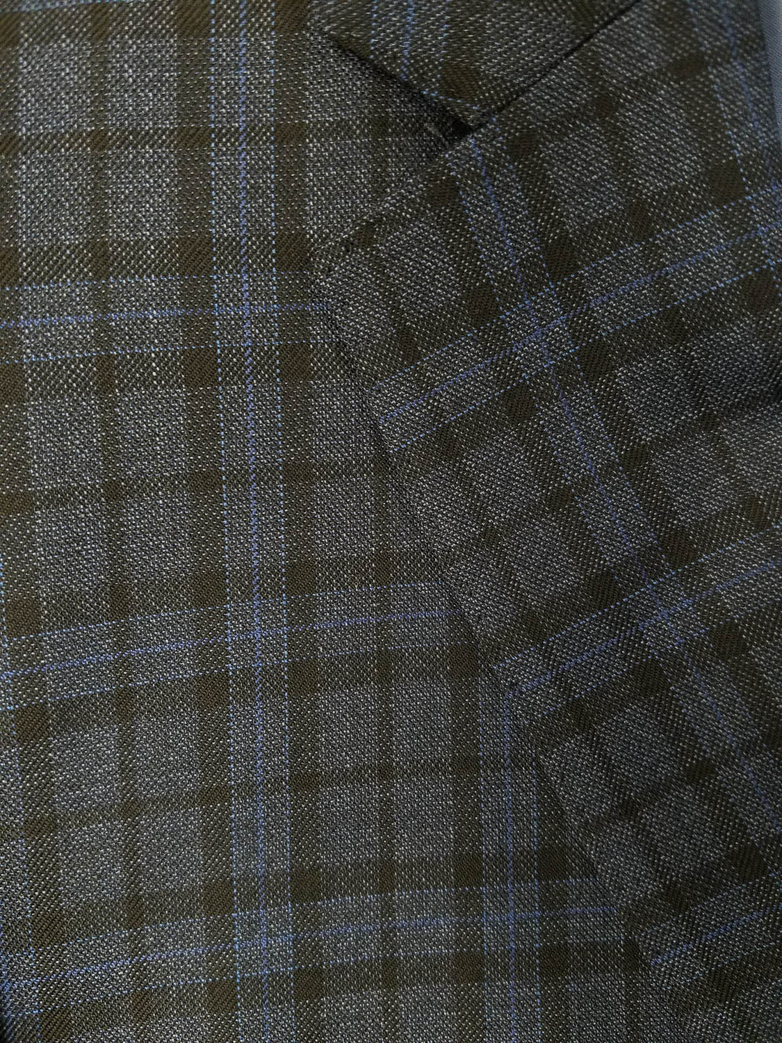 Rainwater's Luxury Collection Blue & Charcoal Plaid Super 150's Wool Sport Coat - Rainwater's Men's Clothing and Tuxedo Rental