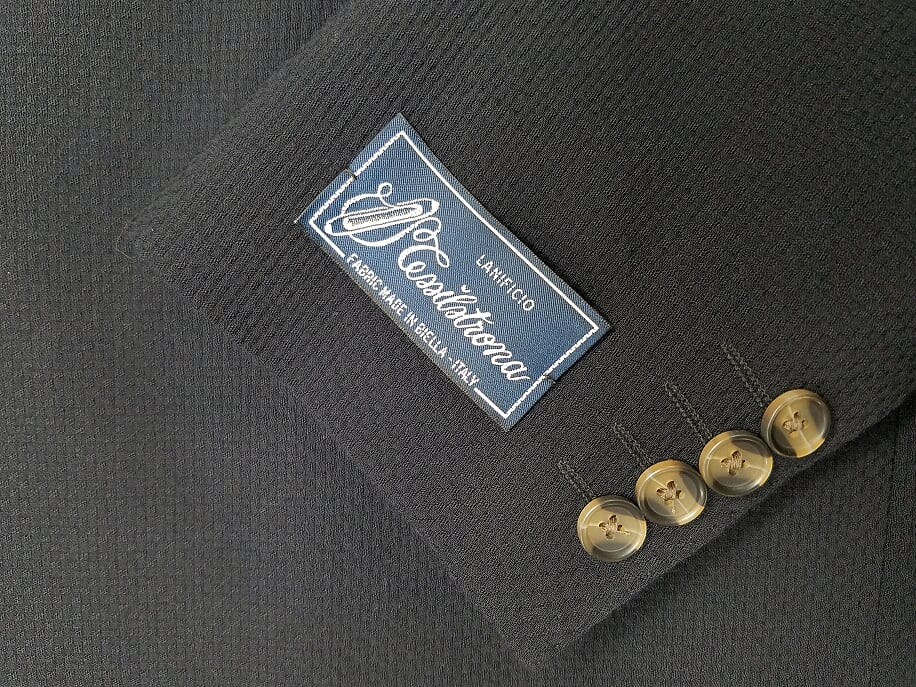 Rainwater's Luxury Collection Black Basketweave Soft Coat - Rainwater's Men's Clothing and Tuxedo Rental