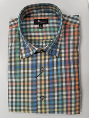 Jon Randall Collection Rainbow Colored Sport Shirt - Rainwater's Men's Clothing and Tuxedo Rental
