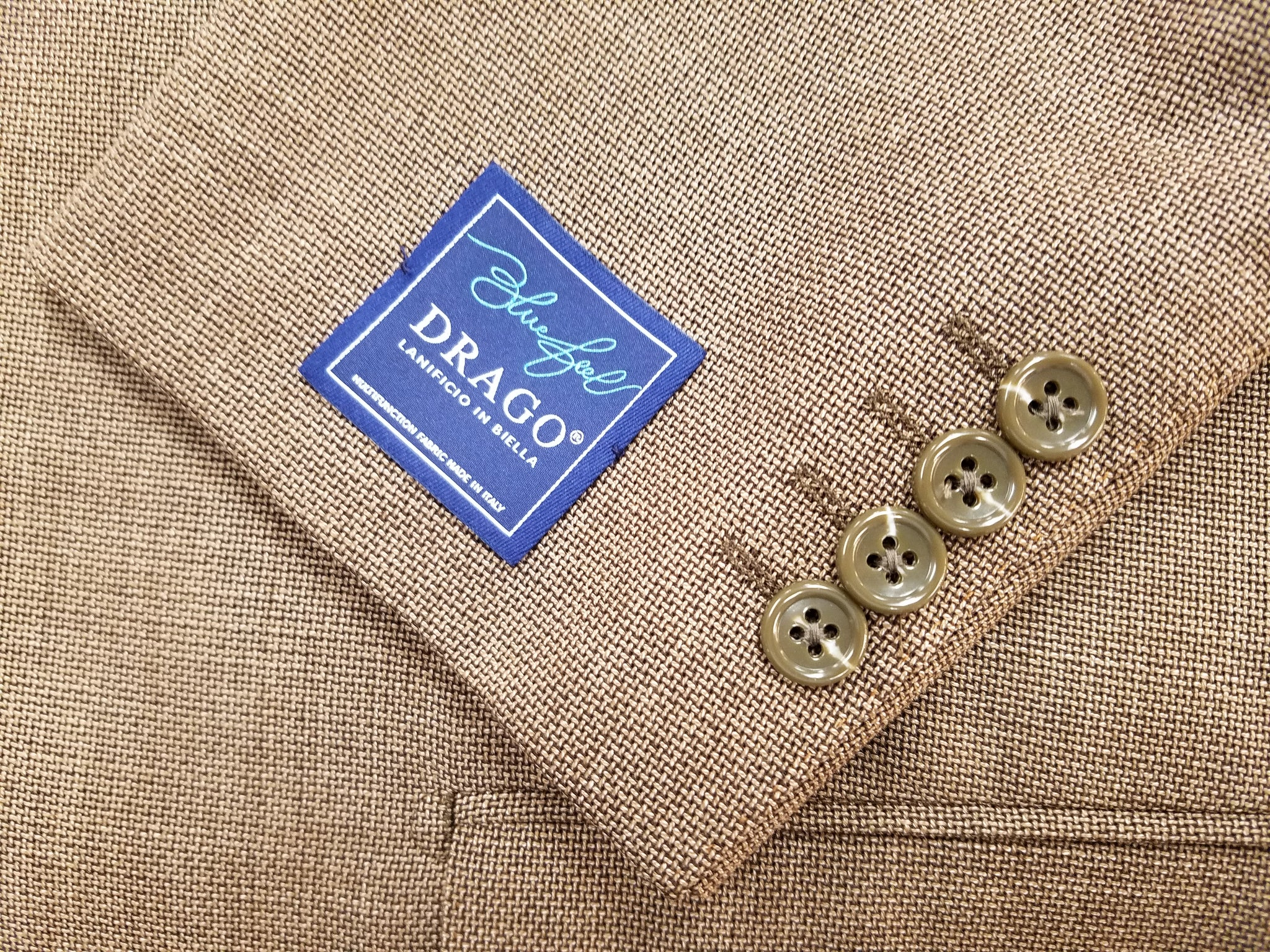 Mocha Color Sport Coat 100% Wool Fabric by Drago of Italy - Rainwater's Men's Clothing and Tuxedo Rental