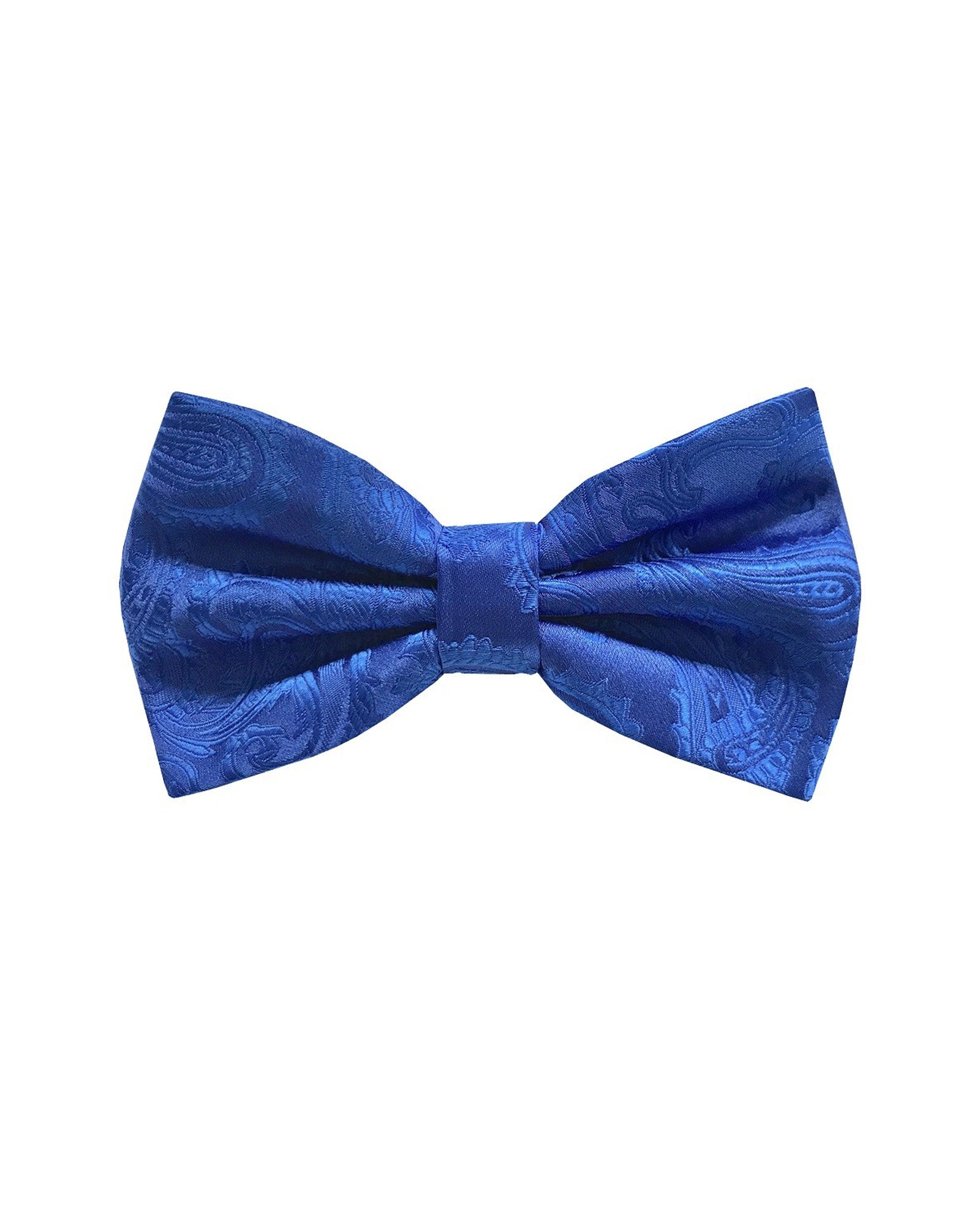 Bow Tie In Paisley Pattern Royal - Rainwater's
