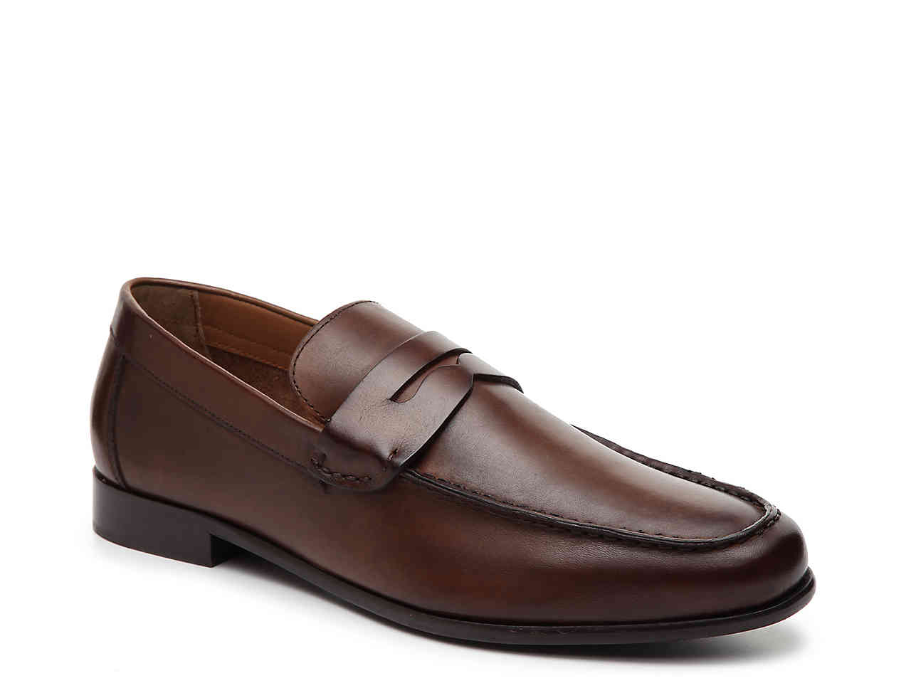 Bacco Bucci Bachelor Penny Loafer in Brown - Rainwater's Men's Clothing and Tuxedo Rental