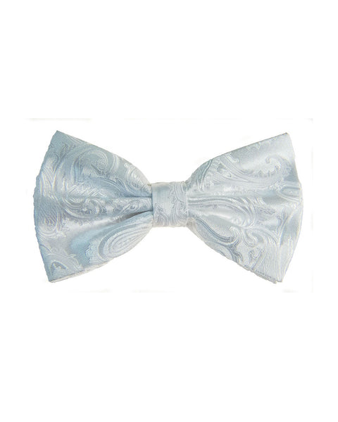 Bow Tie In Paisley Pattern White - Rainwater's Men's Clothing and Tuxedo Rental