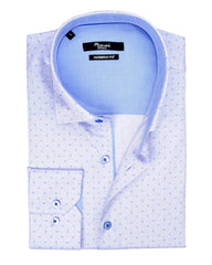 Light Blue Tiny Circle Neat Print Sport Shirt - Rainwater's