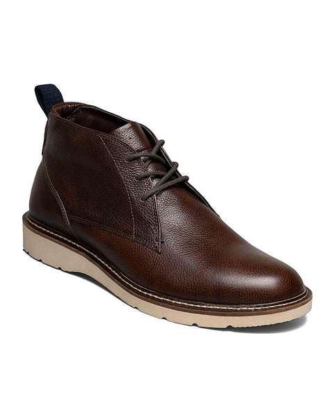 BOSLEY Plain Toe Chukka Boot in Brown Tumbled by Nunn Bush - Rainwater's Men's Clothing and Tuxedo Rental