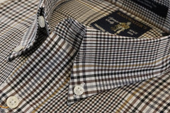 Black Brown & Camel Plaid Button Down Wrinkle Free Sport Shirt - Rainwater's Men's Clothing and Tuxedo Rental