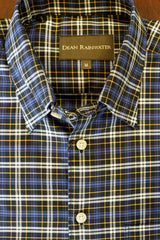 Black with Blue and Khaki Plaid Hidden Button-down by Dean Rainwater - Rainwater's Men's Clothing and Tuxedo Rental