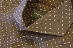 Brown Circle Dot Cotton Cutaway Collar by Dean Rainwater - Rainwater's Men's Clothing and Tuxedo Rental