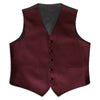 Burgundy Satin Rental Vest - Rainwater's Men's Clothing and Tuxedo Rental
