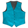 Caribbean Blue Satin Rental Vest - Rainwater's Men's Clothing and Tuxedo Rental