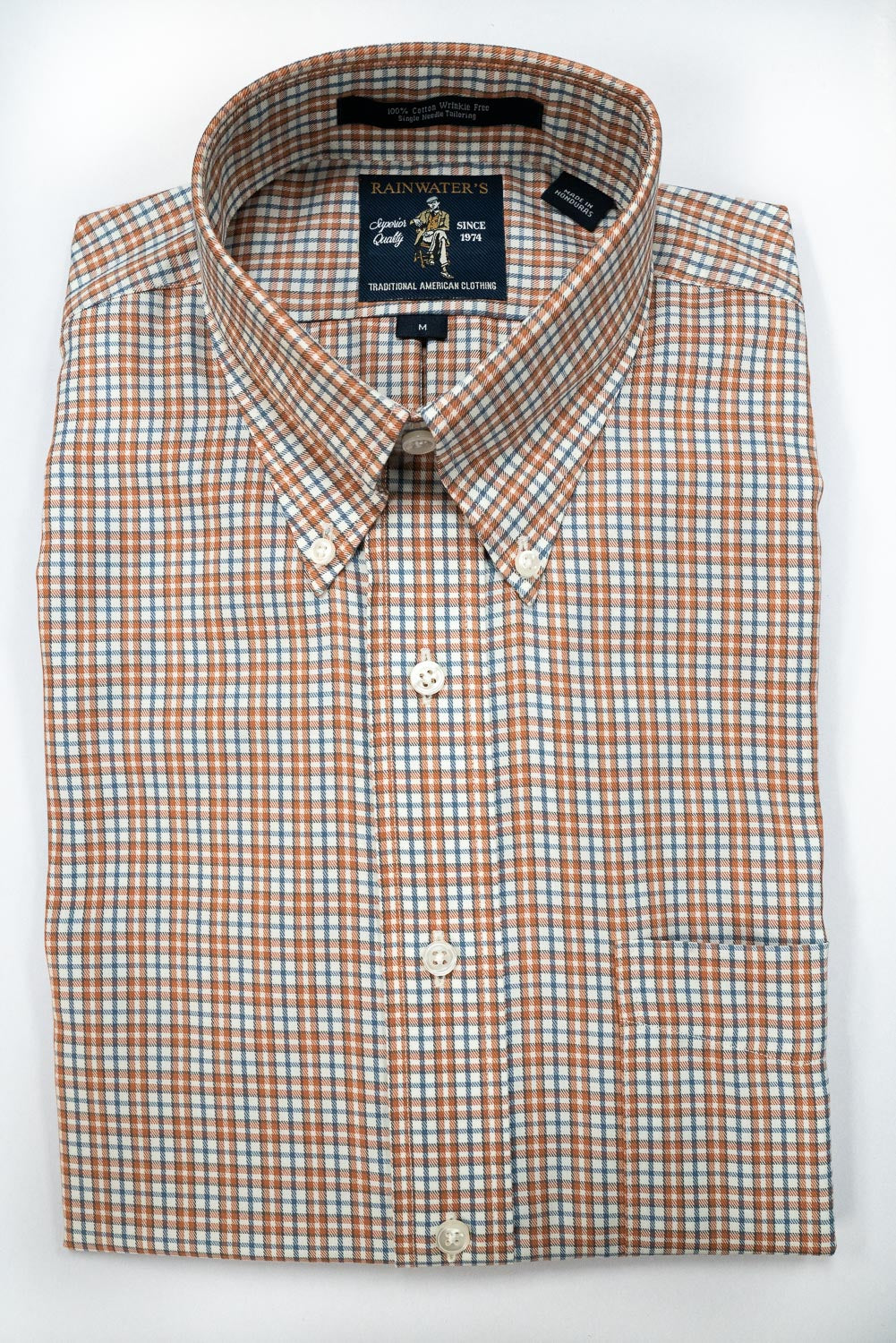 Rainwater's Apricot Small Plaid - Rainwater's Men's Clothing and Tuxedo Rental