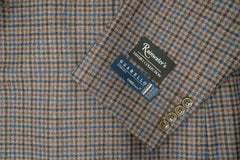 Guabello Super 130's Grey Brown Check Wool Sport Coat - Rainwater's Men's Clothing and Tuxedo Rental