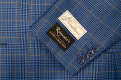 Tessilstrona French Blue Plaid Silk & Wool Sport Coat - Rainwater's Men's Clothing and Tuxedo Rental