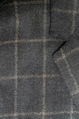 Lanificio di Pray Charcoal Window Pane Wool Sport Coat - Rainwater's Men's Clothing and Tuxedo Rental