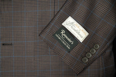 Tessilstrona Brown Plaid Silk & Wool Sport Coat - Rainwater's