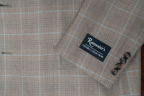 Rainwater's Tobacco Plaid Silk & Wool Sport Coat