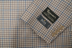 Reda Taupe Check Sport Coat - Rainwater's Men's Clothing and Tuxedo Rental