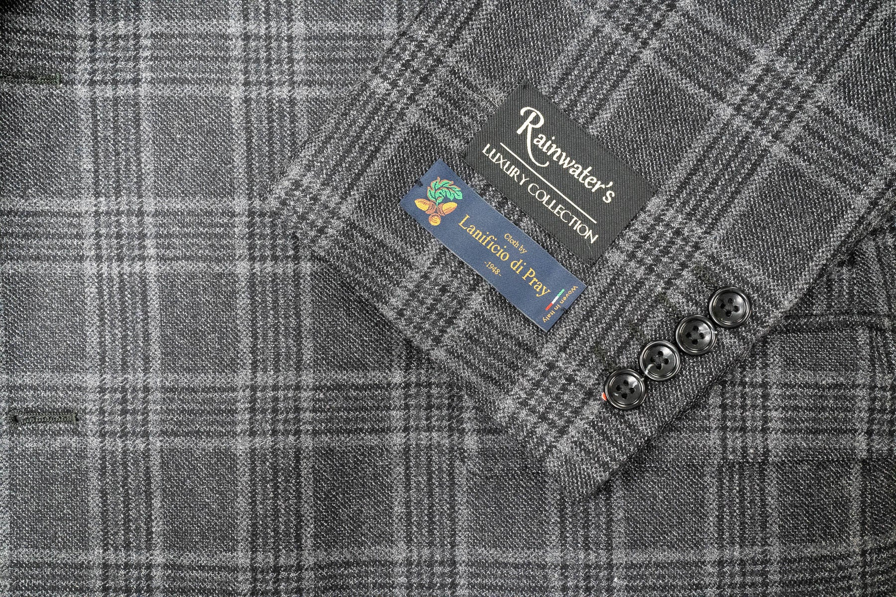 Lanificio di Pray Charcoal Plaid Super 150's Sport Coat - Rainwater's Men's Clothing and Tuxedo Rental