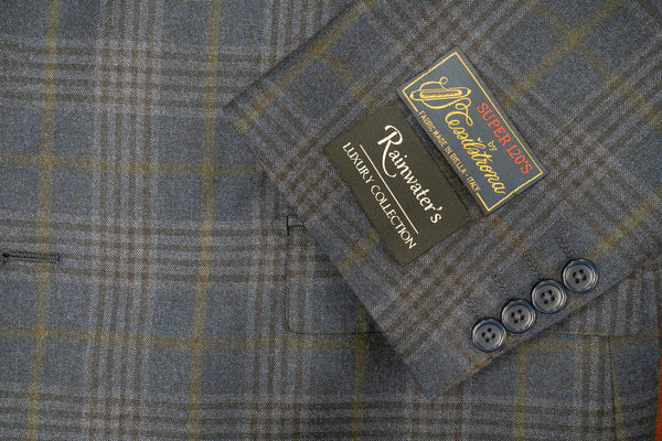 Tessilstrona Navy Plaid Super 120's Wool Sport Coat