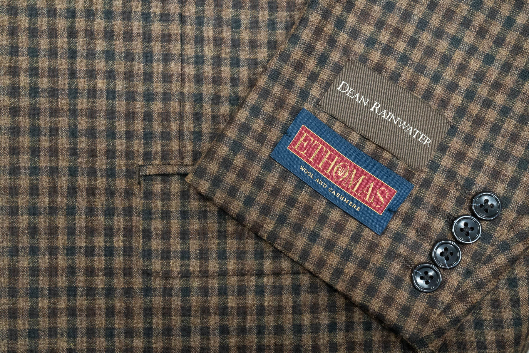 E. Thomas Brown & Olive Check Sport Coat - Rainwater's Men's Clothing and Tuxedo Rental