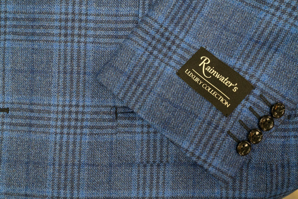 Loro Piana Blue Plaid Wool & Cashmere Sport Coat - Rainwater's Men's Clothing and Tuxedo Rental