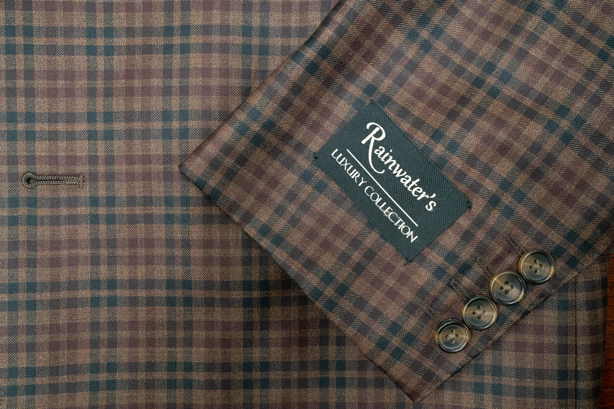 Reda's Rust Check Super 130's Wool Sport Coat