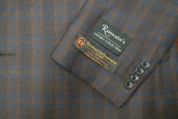 Tessitura di Quaregna Brown Plaid Wool & Silk Sport Coat