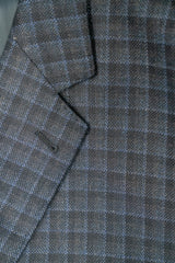 Lanificio di Pray Blue Check Silk & Wool Sport Coat - Rainwater's Men's Clothing and Tuxedo Rental