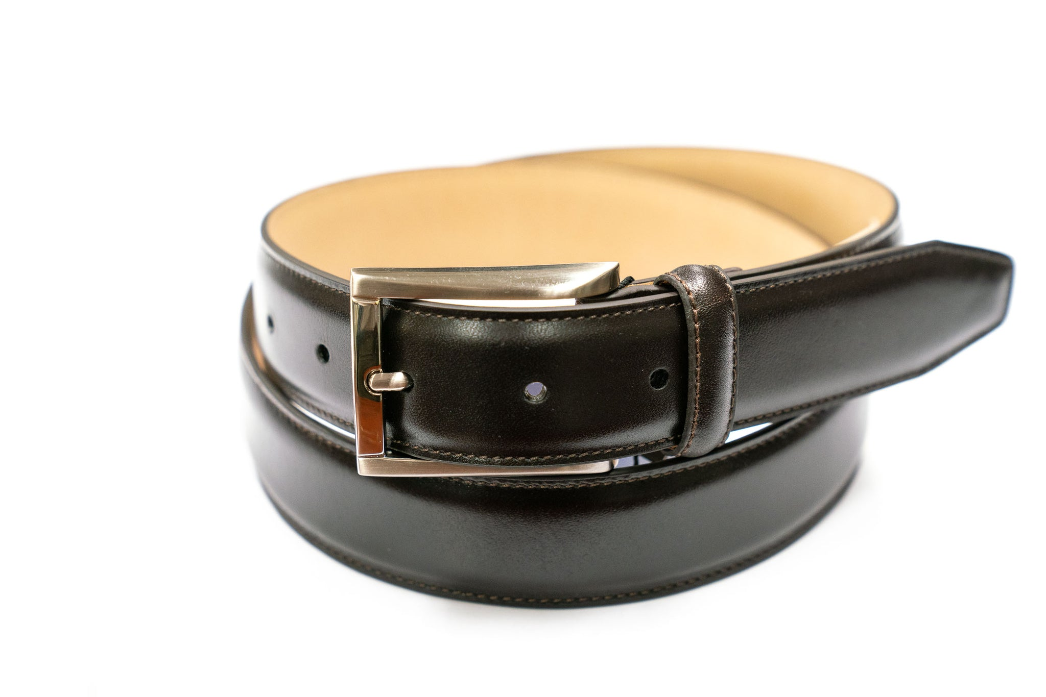 Trafalgar Brown Leather Belt Single Keeper - Rainwater's Men's Clothing and Tuxedo Rental